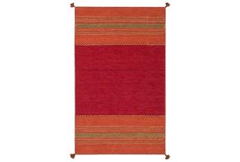 8'x10' Rug-Tassel Cotton Flatweave Orange