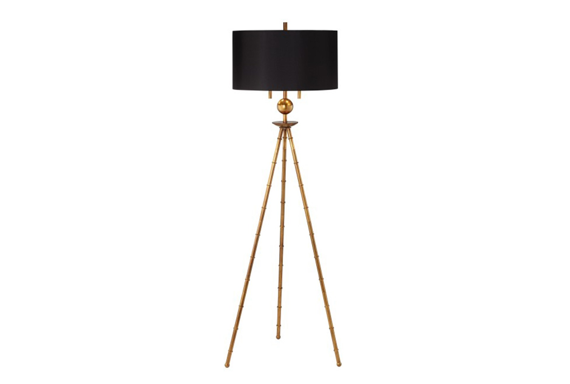 living spaces floor lamps arc floor floor lampgold leaf bamboo tripod 360 living spaces