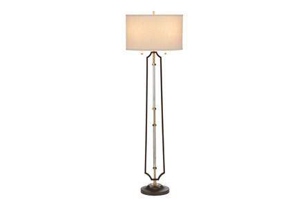 Floor Lamp-Bronze & Acrylic Framed - Main
