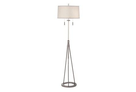 Floor Lamp-Polished Chrome Swing Arm
