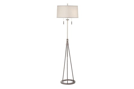 Floor Lamp-Polished Chrome Swing Arm - Main