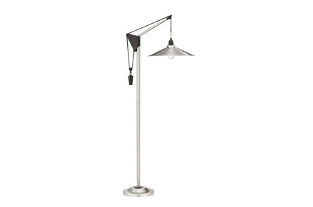 Floor Lamp-Brushed Steel Weight - Main