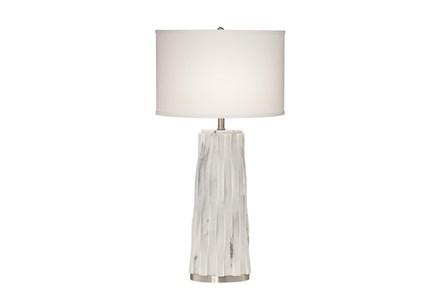 Table Lamp-White Marble Basketweave - Main