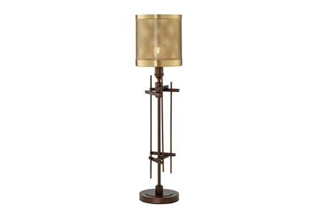 Table Lamp-Bronze Perforted Shade 1-Light