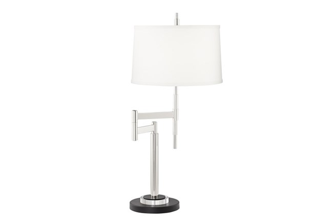 Table Lamp-Polished Chrome Swing Arm - 360