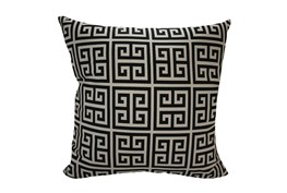Accent Pillow-Greek Key Black 18X18