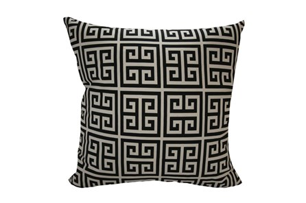 Accent Pillow-Greek Key Black 18X18