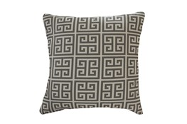 Accent Pillow-Greek Key Grey 18X18