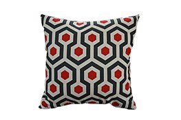 Accent Pillow-Retro Honeycomb Red 18X18