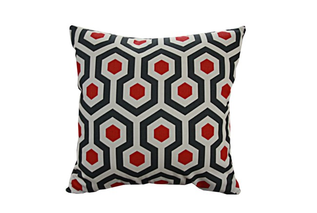 Accent Pillow-Retro Honeycomb Red 18X18 - 360