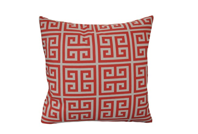 Accent Pillow-Greek Key Coral 18X18 - 360