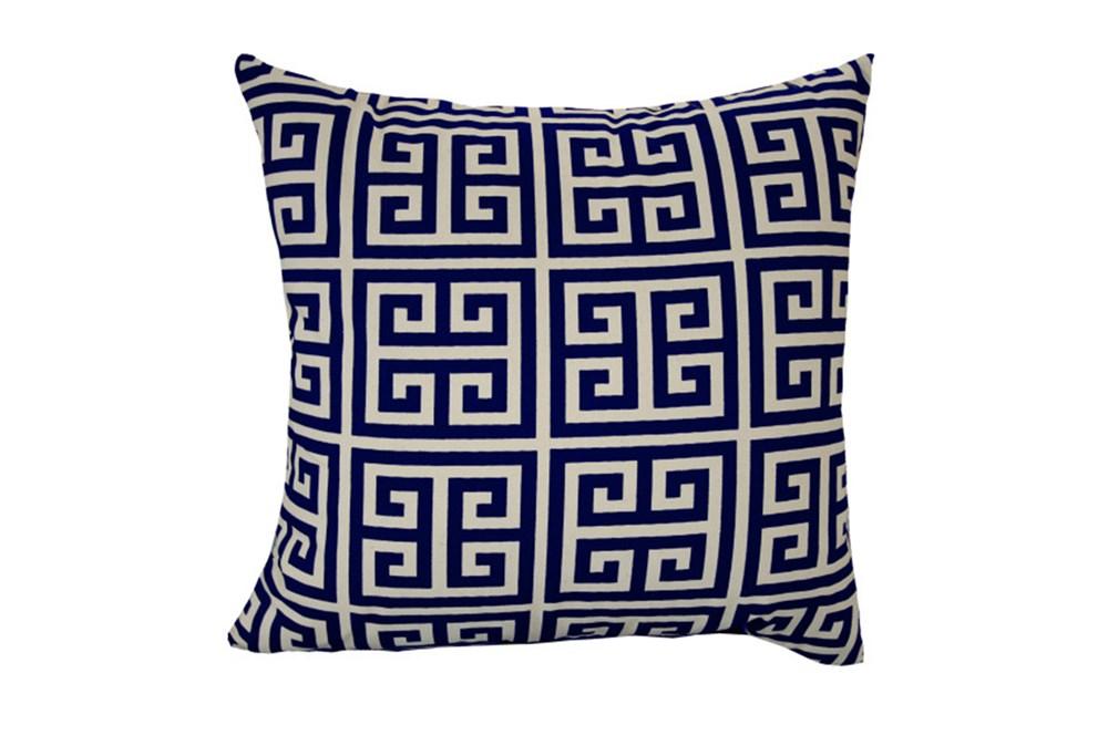Accent Pillow-Greek Key Navy Blue 18X18
