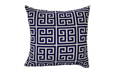Accent Pillow-Greek Key Navy Blue 18X18 - Main