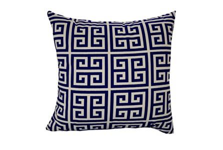 Accent Pillow-Greek Key Navy Blue 18X18 - Main