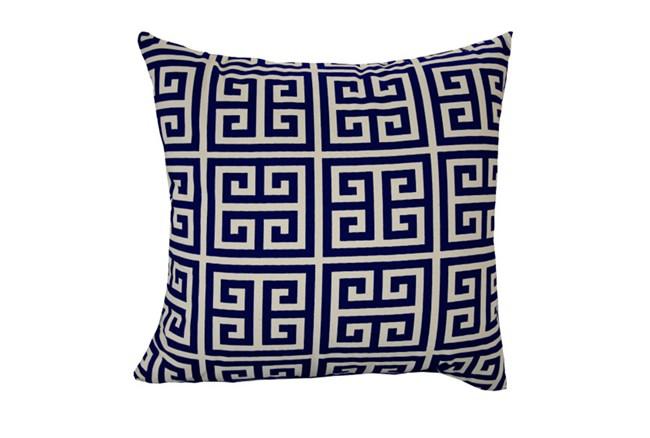 Accent Pillow-Greek Key Navy Blue 18X18 - 360
