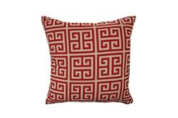 Accent Pillow-Greek Key Red 18X18