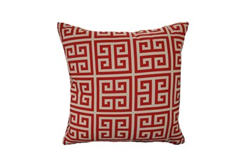 Accent Pillow-Greek Key Red 18X18