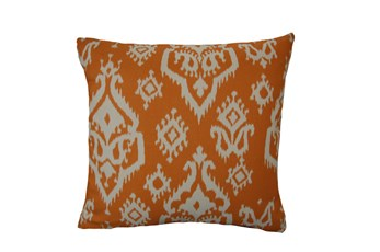Accent Pillow-Bay Ikat Orange 18X18