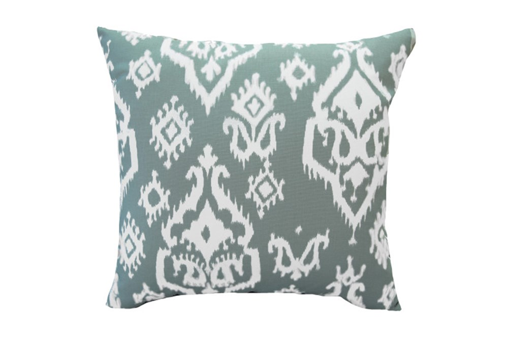 Accent Pillow-Bay Ikat Cool Grey 18X18