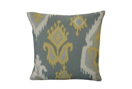 Accent Pillow-Yellow/Grey Ikat 18X18