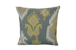 Accent Pillow-Yellow Grey Ikat 18X18