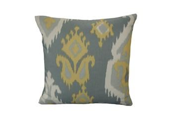 Accent Pillow-Yellow Grey Ikat 18X18