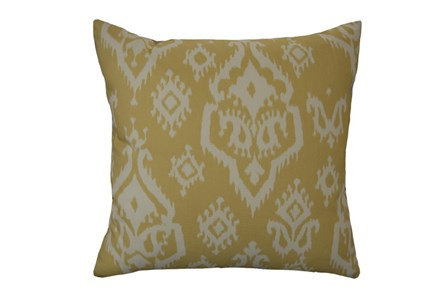 Accent Pillow-Bay Ikat Yellow 18X18