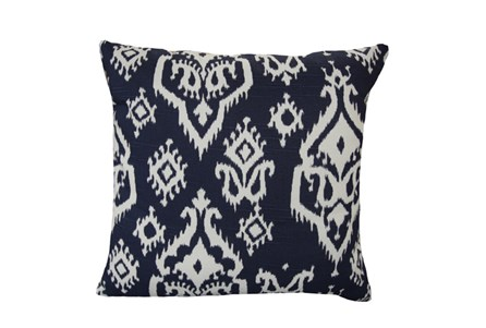 Accent Pillow-Bay Ikat Blue 18X18