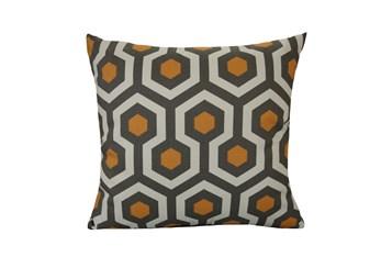 Accent Pillow-Retro Honeycomb Orange 18X18