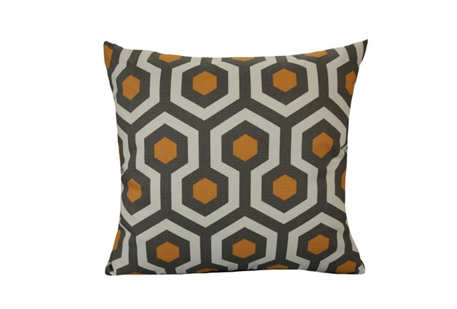 Accent Pillow-Retro Honeycomb Orange 18X18 - 360