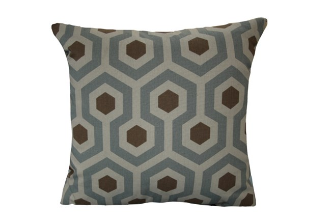 Accent Pillow-Retro Honeycomb Grey/Brown 18X18 - 360