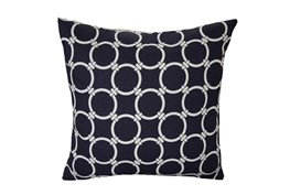Accent Pillow-Navy Blue Links 18X18