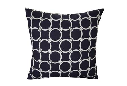 Accent Pillow-Navy Blue Links 18X18