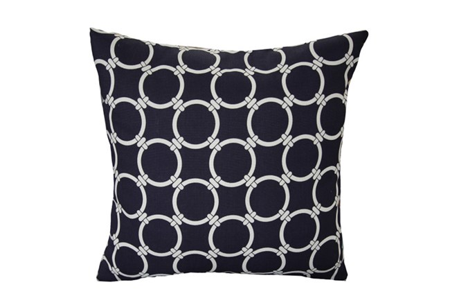 Accent Pillow-Navy Blue Links 18X18 - 360
