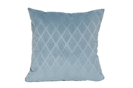 Accent Pillow-Teal Velvet Diamonds 18X18