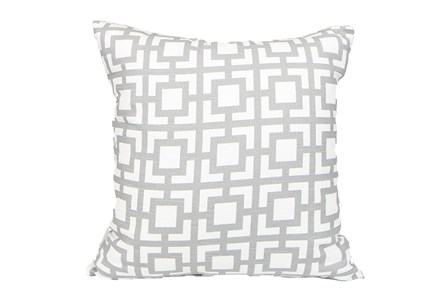 Accent Pillow-Silver Squares 18X18 - Main