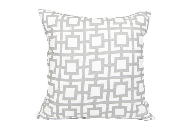 Accent Pillow-Silver Squares 18X18 - 360