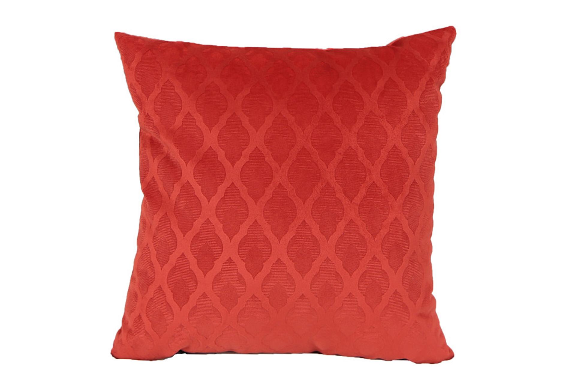 Accent Pillow Red Velvet Diamonds 18x18 Living Spaces
