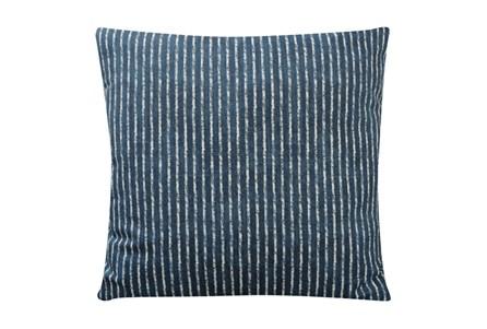 Accent Pillow-Dark Teal Ticking 18X18