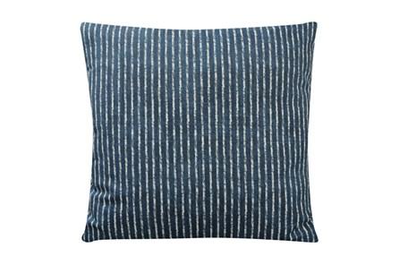 Accent Pillow-Dark Teal Ticking 18X18 - Main