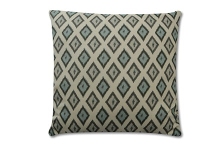 Accent Pillow-Charcoal Diamonds 18X18 - Main