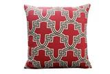 Accent Pillow-Mame Trellis Red 18X18 - Signature