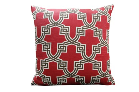Accent Pillow-Mame Trellis Red 18X18