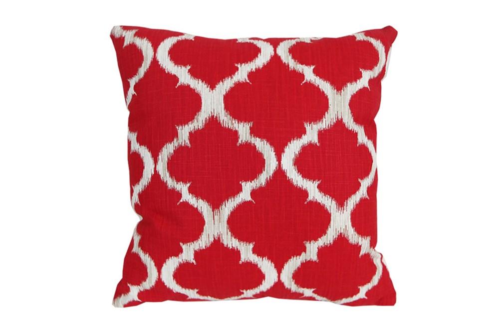 Accent Pillow-Clover Red 18X18