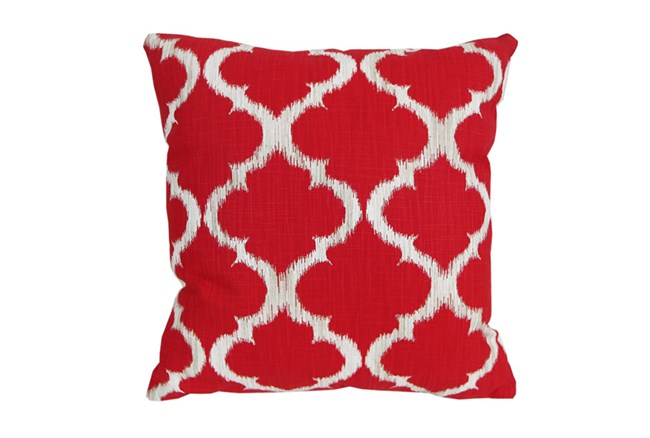 Accent Pillow-Clover Red 18X18 - 360