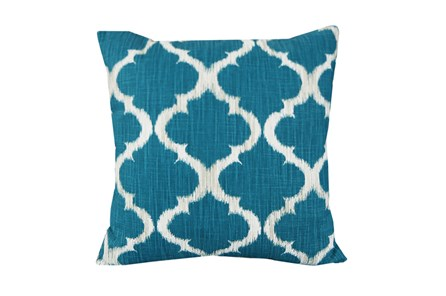 Accent Pillow-Clover Teal 18X18 - Main