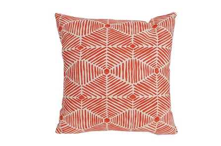 Accent Pillow-Tadaaki Coral 18X18 - Main