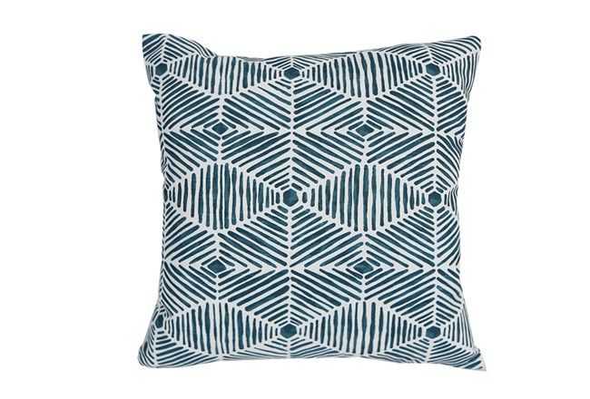 Accent Pillow-Tadaaki Teal 18X18 - 360
