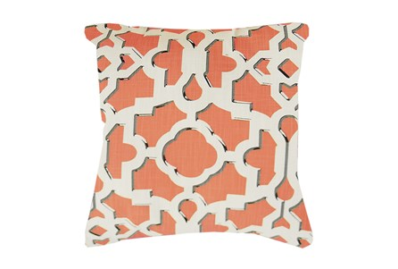 Accent Pillow-Island Gate Coral 18X18
