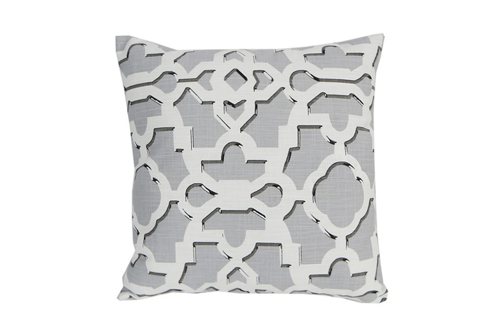 Accent Pillow-Island Gate Silver 18X18